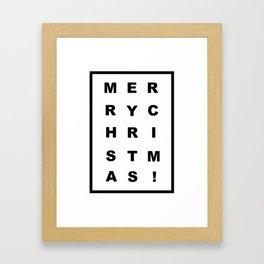 Merry Chritmas Framed Art Print