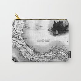 Vintage Map of Panama (1851) BW Carry-All Pouch