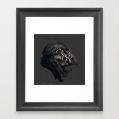 Grotesque helmet Framed Art Print