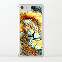 AnimalArt_Lion_20170604_by_JAMColorsSpecial Clear iPhone Case