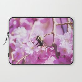 Pink Weeping Willow With Bumble Bee Laptop Sleeve