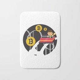 Funny Bitcoin Currency Rollercoaster Hodl Bitcoin Bath Mat