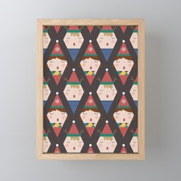 A Christmas Carol (Patterns Please) Framed Mini Art Print