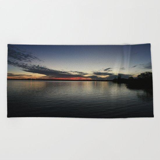 Reflections of El Jobean DPG160427a  Beach Towel