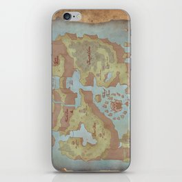 Super Mario World Map (Vintage Style) iPhone Skin