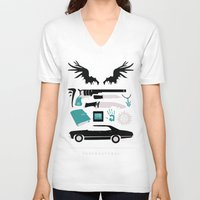 supernatural V-neck T-shirts featuring Supernatural by Abbie Imagine