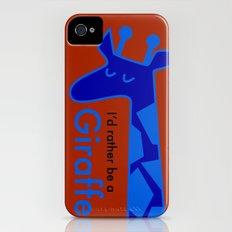 I'd Rather Be a Giraffe Slim Case iPhone (4, 4s)