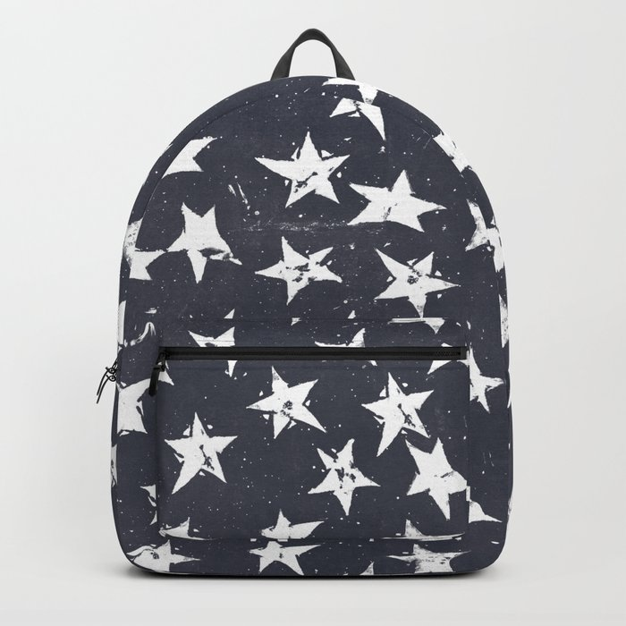 Linocut Stars - Navy & White Backpack