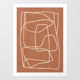 Abstract line art 22 Art Print