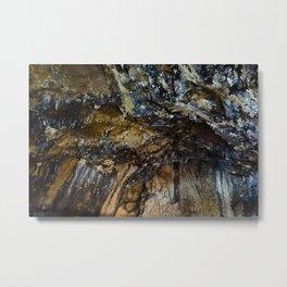 Inside Ialomitei cave, Bucegi mountains, Romania, Bucegi National Park Metal Print