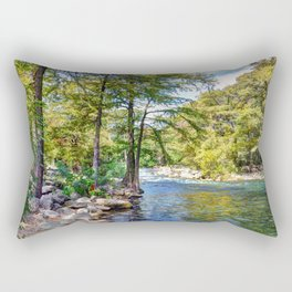 Guadalupe River - Gruene Texas Rectangular Pillow