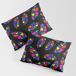 Stained Glass Leaves Dark Pillow Sham