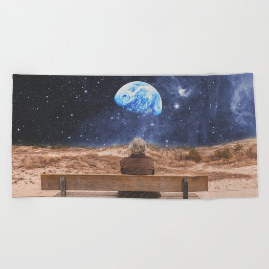 PLANET EARTH, THE UNIVERSE AND I Beach Towel