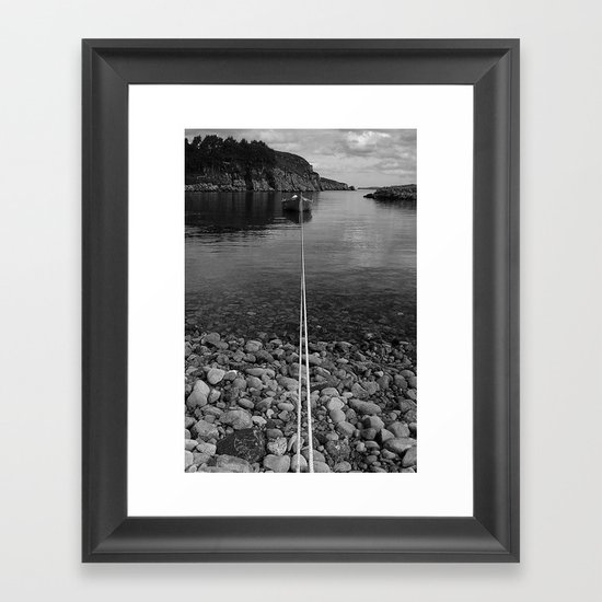 The Long Mooring Framed Art Print