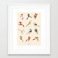 world cup Framed Art Prints featuring WORLD CUP by rafael mayani