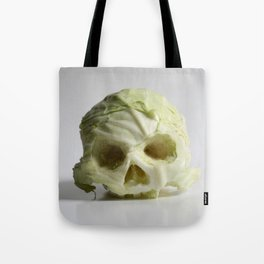 360. Skull of Cabbage Tote Bag