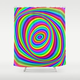Rainbow Hypnosis Shower Curtain