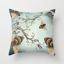 all the buzz Throw Pillow