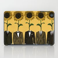 suits iPad Cases featuring Sunflowers In Suits Print by Roxy Makes Things
