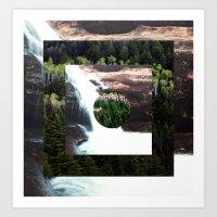 TREE FALLS Art Print