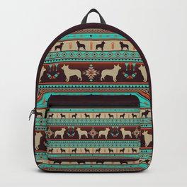 Boho dogs | Australian cattle dog sunset Backpack