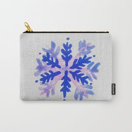 WATERCOLOR SNOWFLAKE 7 - blue and purple palette Carry-All Pouch