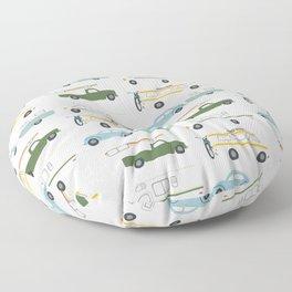 Vintage RV Motorhome Trailers Campers Floor Pillow
