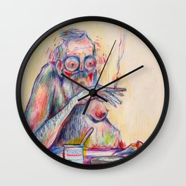 pseudokrem Wall Clock