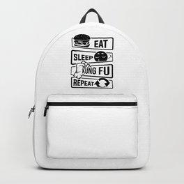 Eat Sleep Kung Fu Repeat - Martial Art Defense Backpack