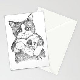 Meowticia Addam Stationery Cards