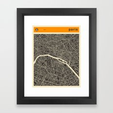 Paris Map Framed Art Print