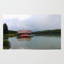 Maligne Lake Boathouse Rug