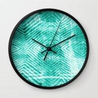 tie dye Wall Clocks featuring Tie Dye  by Jenna Davis Designs