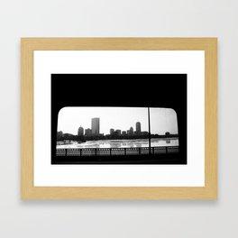 Boston on a Bus Framed Art Print