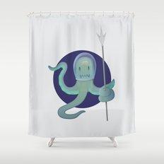 Lil Alien - Squiddy  Shower Curtain