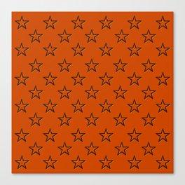Orange stars pattern Canvas Print