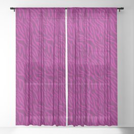 Pink-On-Pink Zebra Stripes Sheer Curtain