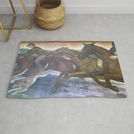 Murals Louisville Murals-Fox Hunting by Frank Weathers Long at the Gene Snyder US Courthouse  Custom Rug