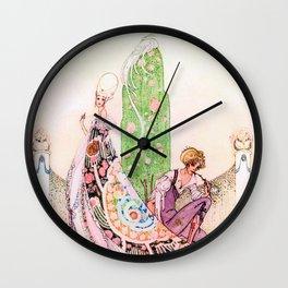Kay Nielsen - Princess Lena And Michael, The Gardener Wall Clock