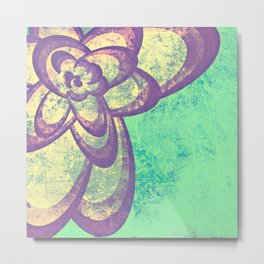 Purple & Green Flower Metal Print