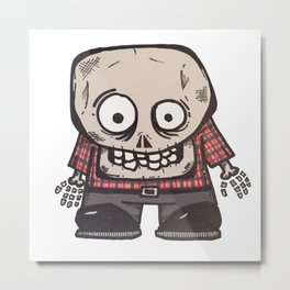 Skull Kid Metal Print