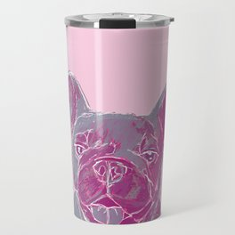 pink frenchie Travel Mug