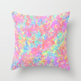 rainbow smudged Throw Pillow
