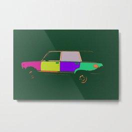 Soviet car, pop style Metal Print
