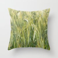 catcher in the rye Throw Pillows featuring Rye by BlueShadowM