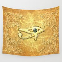 all seeing eye Wall Tapestries featuring The all seeing eye by nicky2342