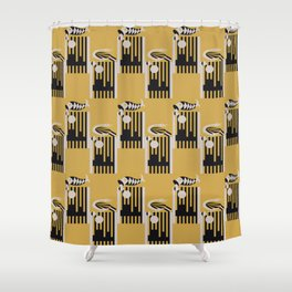 Art Deco Bird & Fish - Hemingway Shower Curtain