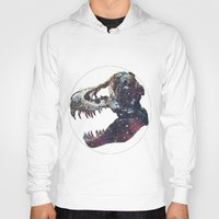 trex Hoodies featuring Galaxy trex by Fallen amongst the wolves