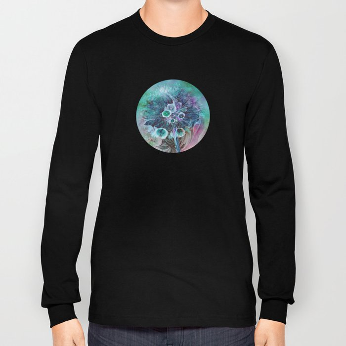 Fractal Bouquet Long Sleeve T-shirt