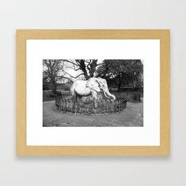 Elephant in the park Framed Art Print